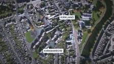 The victim was chased from the lower area of Kirkbarrow to Kirkland in Kendal