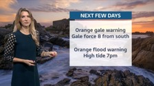 Weather warning issued for the Channel Islands tonight