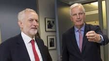 Corbyn in Brussels to 'make sure Brexit negotiations get on track'