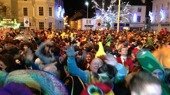 New Year celebrations in Bideford