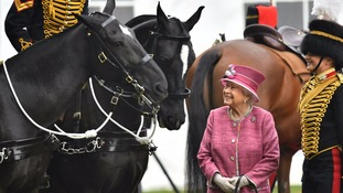 Queen marks 70th anniversary of the King's Troop Royal Horse Artillery