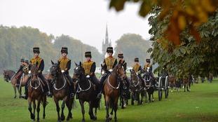 Members of the King's Troop Royal Horse Artillery in Hyde Park