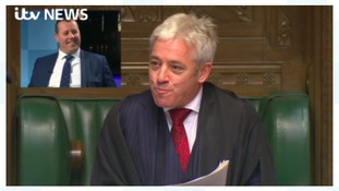 MP reacts to telling off in the House of Commons