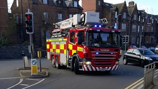 The fire in Dumfries was started deliberately, police say