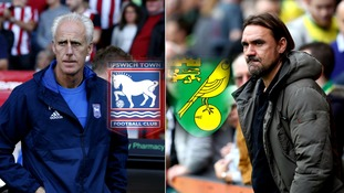 Mick McCarthy (left) and Daniel Farke (right) will go head-to-head on Sunday.