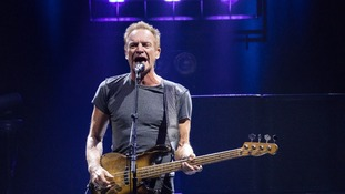 Sting in concert last month.