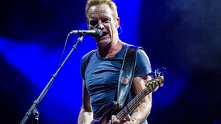 Sting in concert.