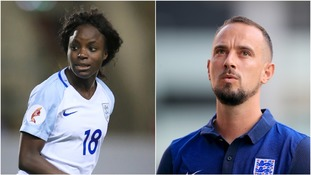 Eni Aluko and Mark Sampson