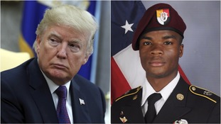 Trump and Sergeant La David Johnson