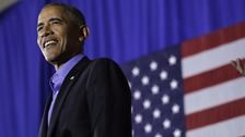 Barack Obama takes aim at Trump as he returns to campaign trail