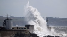 Porthcawl during a storm