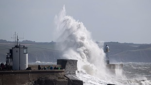 porthcawl during Storm Aileen