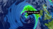 Storm Brian to batter UK with 70mph winds