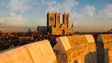 It is hoped American visitors will be attracted by landmarks like Lincoln Cathedral.