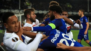 Everton: Police investigate after fan carrying child hits Lyon player