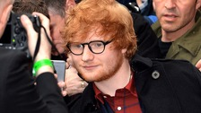 Ed Sheeran at the Q Awards in London earlier this week