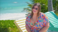 Model stays at world's only hotel for plus-sized people