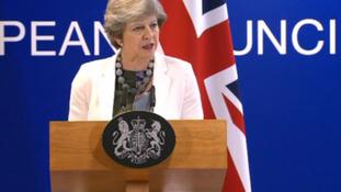 May says EU shares UK stance on 'no hard border'