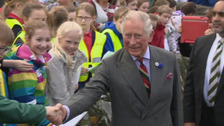 Prince Charles visits flood victims in Northern Ireland