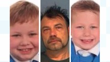 Michael John Cole, 43, Michael Lee Cole, eight, and Harry Cole, aged seven,