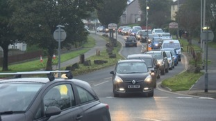 The roadworks send an overspill on traffic onto minor routes as drivers attempt to divert them.