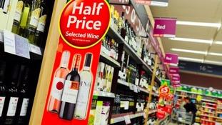 Supermarket Wine Bottles Aisle