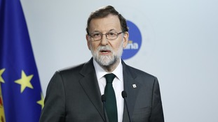 "Rajoy: ""The goal is double: the return to legality, and the recovery of institutional normalcy."""