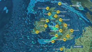 Storm Brian will bring strong winds.
