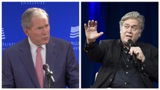 George W Bush and Steve Bannon