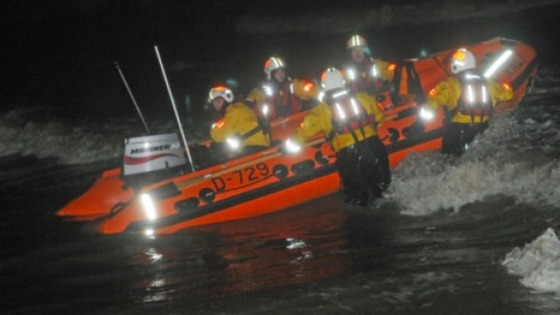 Rescue Boat and crew