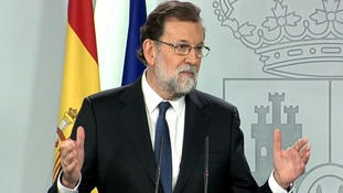 Spanish PM wants to dissolve Catalonia's government