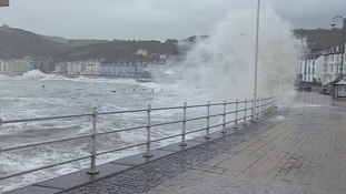 Storm Brian causes disruption across Wales with strong winds