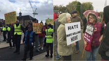 'Minor scuffles' as EDL march through Peterborough