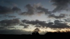 Moody sky in Great Chesterford.