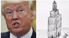 Trump sketch of Empire State Building sells for £12,000