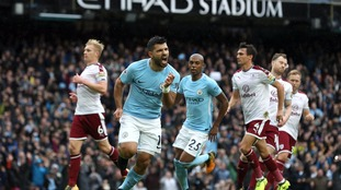 Aguero equals record as City beat Burnley at the Etihad