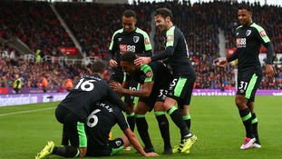 Bournemouth earn first away win of the season at Stoke