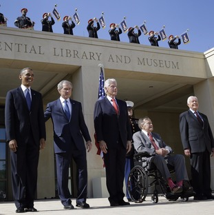 The five former presidents in 2013
