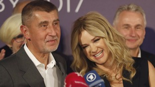 Andrej Babis with his wife Monika