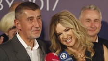 Andrej Babis with wife Monika
