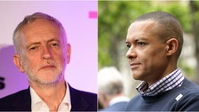 Jeremy Corbyn condemns Clive Lewis' 'on you knees b****' remark
