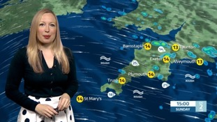 Sunny spells, with winds easing this afternoon