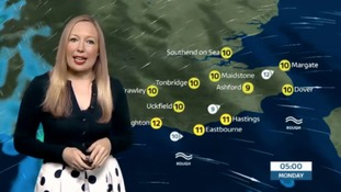Sunday evening's weather update for the east
