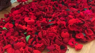 More than 7,000 poppies knitted in Mansfield