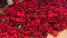 Thousands of poppies have been knitted in Mansfield.