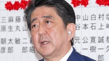 Projections show big win for ruling coalition in Japan