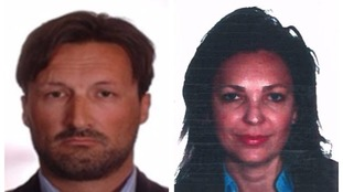 Police want to trace 'most wanted fraudster' Mark Acklom and his wife Maria Rodriguez.