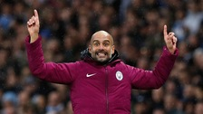 Manchester City manager Pep Guardiola during the Premier League match against Burnley at the Etihad Stadium, Manchester.