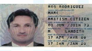 Fake ID belonging to Mark Acklom.