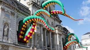 A giant inflatable monster sculpture is set to take over the city's House of Fraser store